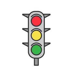 traffic lights color icon vector image
