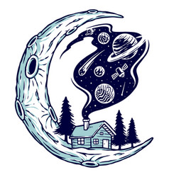 Universe is home vector
