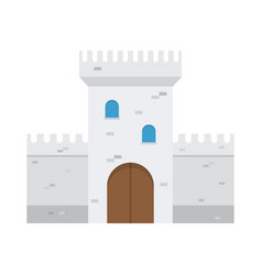 castle flat design vector image