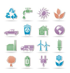 environment objects vector image vector image