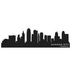 Kansas City Missouri skyline vector image vector image
