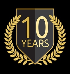 laurel wreath 10 years vector image