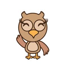 owl baby animal funny image vector image