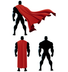 Superhero Back Isolated vector image vector image