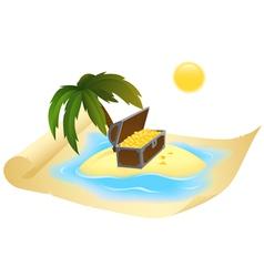 treasure map vector image