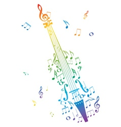 Violin with Notes4 vector image vector image