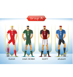 2018 soccer or football team uniform group a vector image vector image