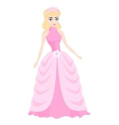 beautiful blonde princess vector image vector image