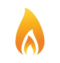 Fire flame burning hot design vector