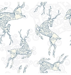 Deer seamless pattern vector