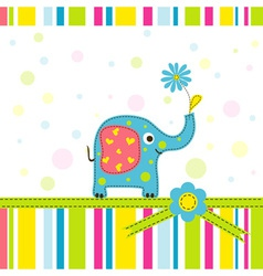 scrapbook elephant greeting card vector image vector image