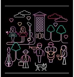 street musicians vector image vector image