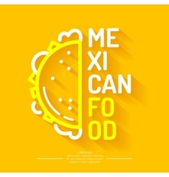 The logo of Mexican food vector image
