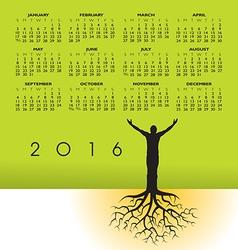 2016 Tree Roots Man Cal vector image