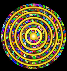 Abstract colored circle vector