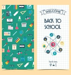 Bilateral vertical school flyer brochure banner vector image