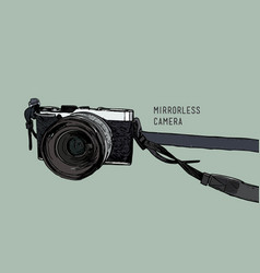 camera vintage and classic style mirrorless vector image vector image