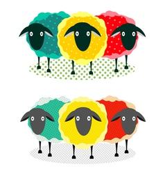 Three Sheep vector image vector image