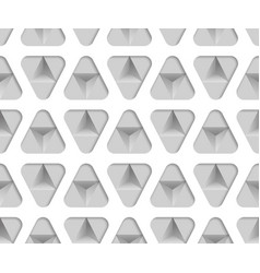3d monochrome paper triangles seamless pattern vector image