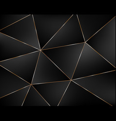 abstract black geometric background from triangles vector image