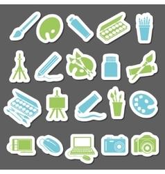 Art stickers icon vector
