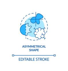 Asymmetrical shape concept icon vector