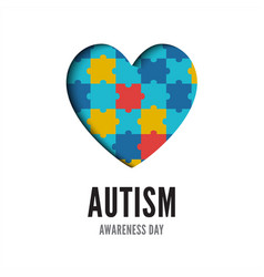 autism awareness day banner isolated on white vector image
