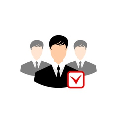 Avatar set front portrait office employee team for vector image