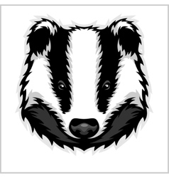 Badger Head black and white vector