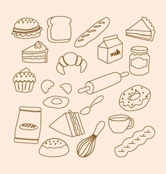 bakery objects vector image
