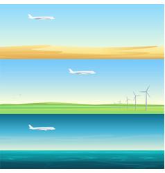 beautiful minimalistic horizontal banners vector image