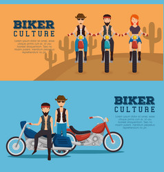 biker culture background vector image