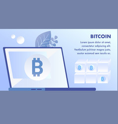 bitcoin cryptocurrency mining banner template vector image