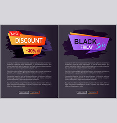 black friday sale and discount vector image