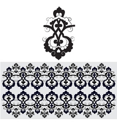 Black oriental ottoman design thirty one vector