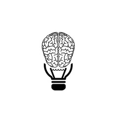 brain idea icon black vector image