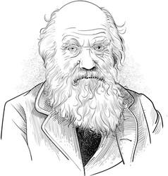 charles robert darwin vector image