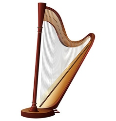 Classical harp with strings vector