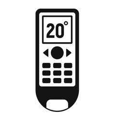 Conditioner remote control icon simple style vector