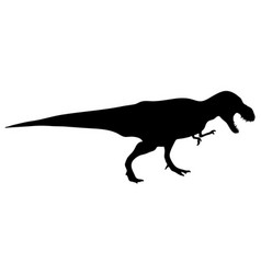 Dinosaur t-rex silhouette vector