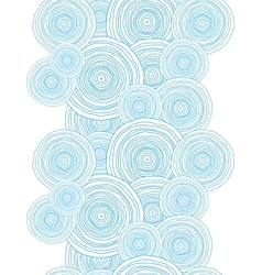Doodle circle water texture vertical border vector