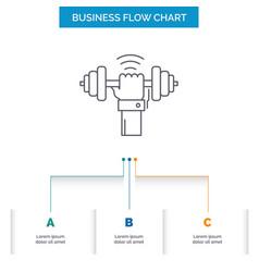 Dumbbell gain lifting power sport business flow vector