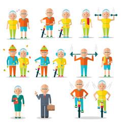 Elderly people lifestyle vector
