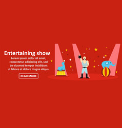 entertaining show banner horizontal concept vector image