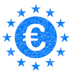 Euro union stars grunge icon vector