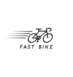fast bike graphic design template vector image