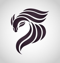 Fighting fish logo vector