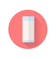 glass of milk flat design vector image