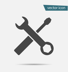 Gray tools icon isolated on background modern fla vector