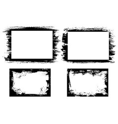 grunge frames with paint ink or dirt strokes vector image